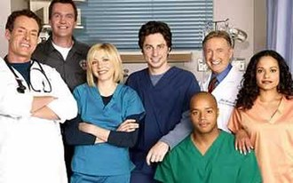 Scrubs (TV series) - Image: Scrubs Cast Scrubs DVD