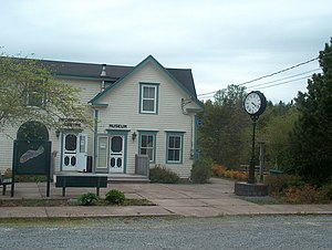 Sheet Harbour, Nova Scotia - The MacPhee House Museum and Visitor Information Centre, located on the grounds of the old mill.