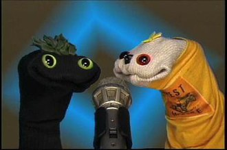 The Sifl and Olly Show - Screenshot showing Sifl (left) and Olly