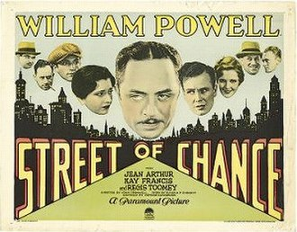 Street of Chance (1930 film) - Theatrical release poster