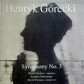 Symphony No. 3 (Górecki) - Cover of the 1992 release of Symphony No. 3, conducted by David Zinman