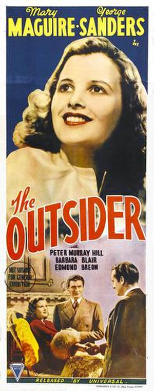 The Outsider (1939 film) - Australian film poster