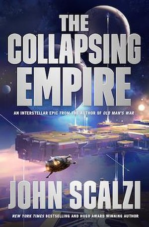 The Collapsing Empire - Cover art for hardcover