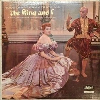 The King and I (1956 film) - 1956 soundtrack album cover, with Deborah Kerr and Yul Brynner
