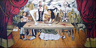 <i>The Wounded Table</i> Painting by Frida Kahlo