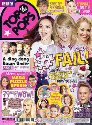 Top of the Pops (magazine) - Image: Totpmag cover