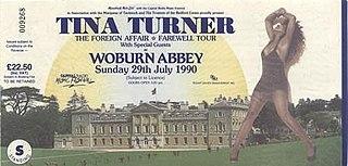 Foreign Affair: The Farewell Tour Tina Turner concert tour