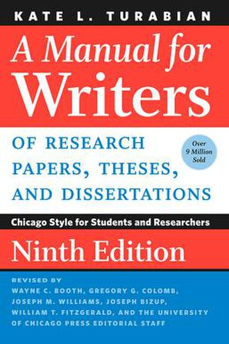 A Manual for Writers of Research Papers, Theses, and Dissertations - Ninth edition book cover