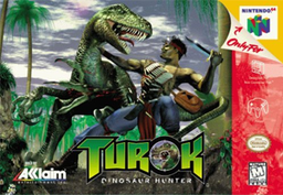 Nintendo64 cover of Turok, US version