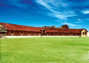 Zahira College, Colombo - The Umpichy Building across the college ground
