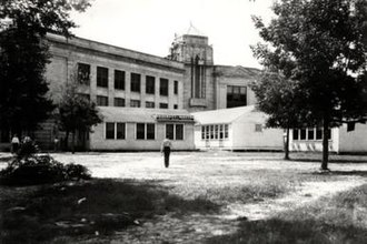 University of Houston - UH held its first classes at San Jacinto High School in 1934