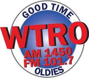 WTRO (AM) - Image: WTRO AM1450 FM101.7 logo