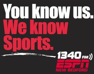 WNBH - Promotional ad for WNBH as ESPN 1340 New Bedford, used from 2009 to 2019.