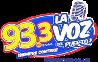 XHACC-FM - Image: XHACC La Vozdel Puerto 93.3 logo