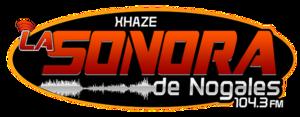 XHAZE-FM - Image: XHAZE La Sonorade Nogales 104.3 logo