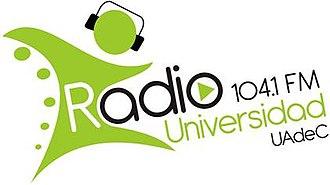 XHUACS-FM - Image: XHUACS 104.1Radio Universidad logo