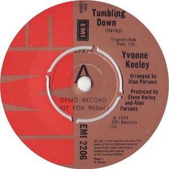 Tumbling Down (Cockney Rebel song) - Image: Yvonne Keeley Tumbling Down 1974 EMI Single