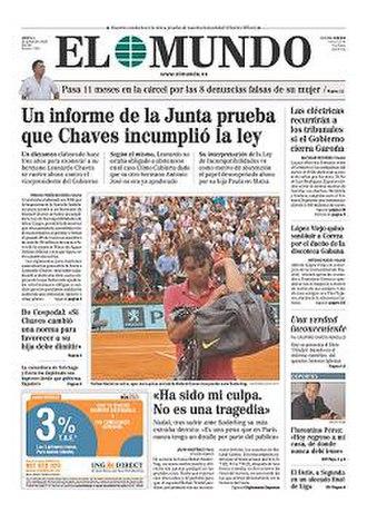 El Mundo (Spain) - Image: 20090601 elmundo frontpage