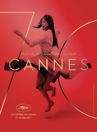 2017 Cannes Film Festival - Official poster of the 70th Cannes Film Festival featuring a still of Italian actress Claudia Cardinale at a rooftop in Rome in 1959