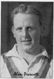 Alan Prescott former GB & England international rugby league footballer