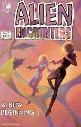 Alien Encounters - Cover to the Alien Encounters issue 1, published by Eclipse Comics in June 1985. Art by Joe Chiodo.