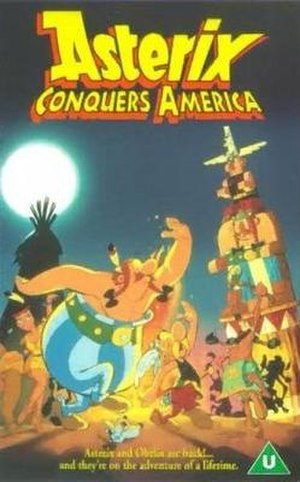 Asterix Conquers America - VHS cover