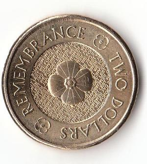 Australian two-dollar coin - The 2012 Remembrance reverse $2 coin.