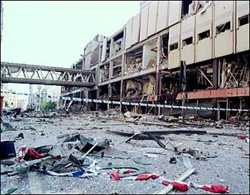 BBC picture Arndale centre after 1996 bomb