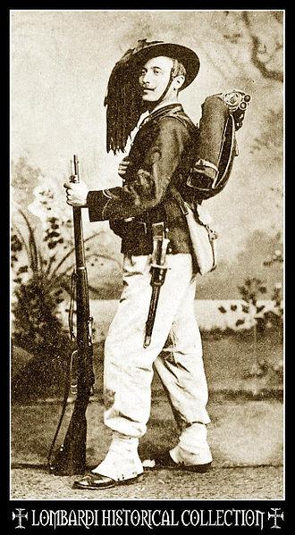 Bersaglieri - A Bersagliere in 1900