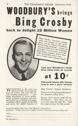 Bing Crosby Entertains - Image: Bing Crosby Entertains advert
