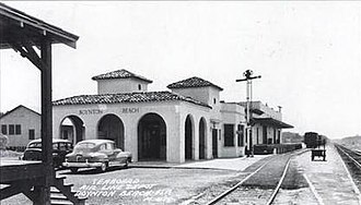 Boynton Beach, Florida - A 1940s view of the Boynton Beach Seaboard Air Line Railroad depot, whose demolition was authorized by the city in 2006