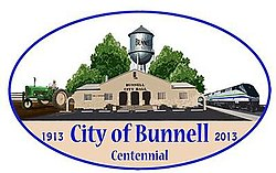 Official logo of Bunnell, Florida
