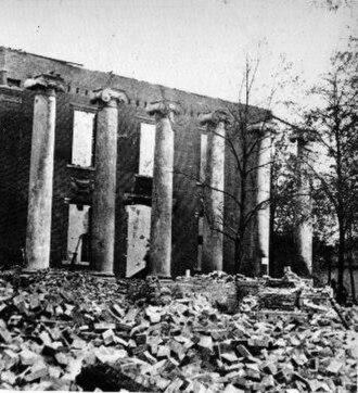 Chambersburg, Pennsylvania - Franklin County Courthouse following the 1864 McCausland raid.