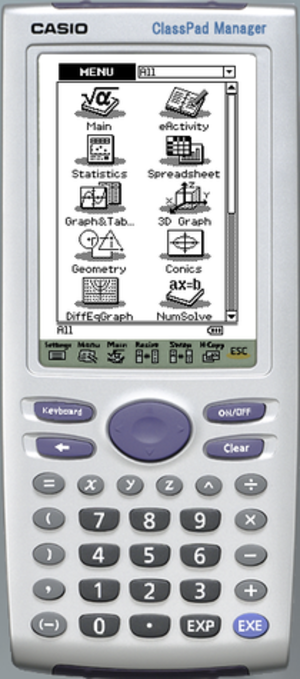 Casio ClassPad 300 - ClassPad Manager 3.0 Software