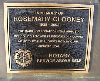 Augusta, Kentucky - The high school carillon in Augusta is dedicated to Rosemary Clooney.