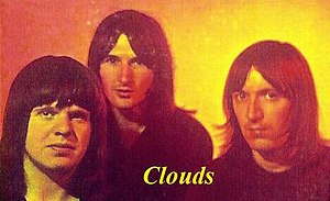 Clouds (60s rock band) - Clouds: From left to right – Harry Hughes, Ian Ellis and Billy Ritchie