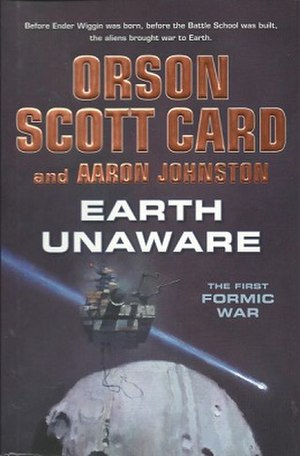 Earth Unaware - Book cover, first edition, Hardback