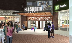 Ellsworth Place - Exterior rendering from Fenton Street and Colesville Road, showing it renamed as 'Ellsworth Place'