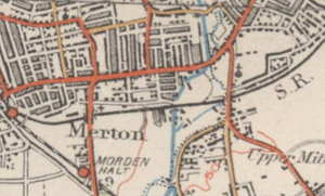 Merton (parish) - Image: Extract of 1920s map of Merton