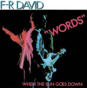 Words (F. R. David song) - Image: FR David Words 7Inch Single Cover