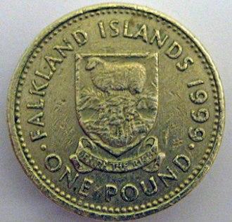 Falkland Islands pound - Image: Falklands one pound coin