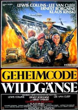 Code Name: Wild Geese - German theatrical release poster by Enzo Sciotti