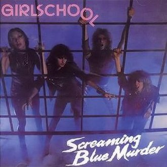 Screaming Blue Murder (Girlschool album) - Image: Girlschool sbm
