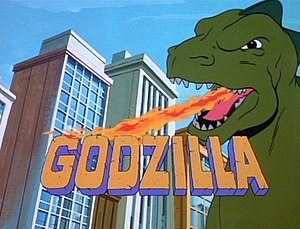 Godzilla (animated series) - Original title card for Godzilla
