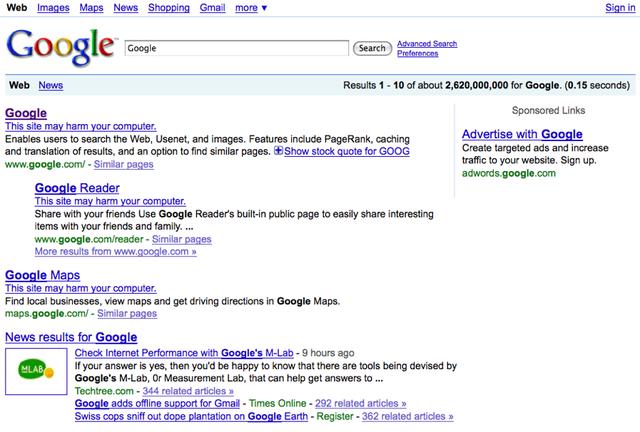 filegoogle search error of january 31 2009png wikipedia