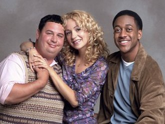 Grown Ups (1999 TV series) - The Grown Ups cast (from left to right), Dave Ruby as Gordon Hammel, Marissa Ribisi as Shari Hammel and Jaleel White as J. Calvin Frazier