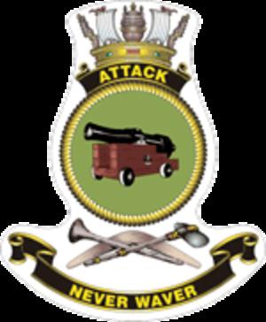 HMAS Attack (P 90) - Ship's badge
