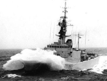 HMCS Saskatchewan DDE-262 in 1963