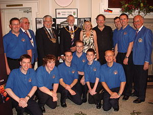 Warrington Male Voice Choir - Image: Harmony in Blue Hilden Reception