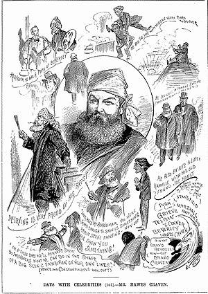 Hawes Craven - 1894 cartoons of Craven